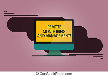 Handwriting text Remote Monitoring And Management. Concept ...