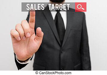 Handwriting text Sales Target. Concept meaning specified ...