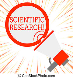 Handwriting text Scientific Research. Concept meaning...
