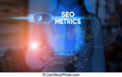 Handwriting text Seo Metrics. Concept meaning measure the ...