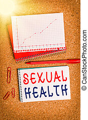 Handwriting text Sexual Health. Concept meaning positive and...