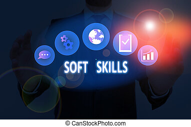 Handwriting text Soft Skills. Concept meaning ...