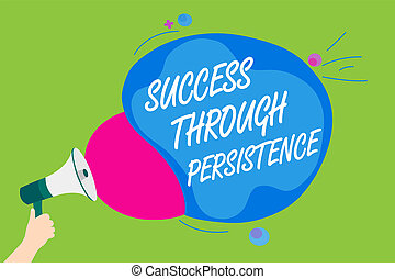 Word Writing Text Success Through Persistence Business Concept For