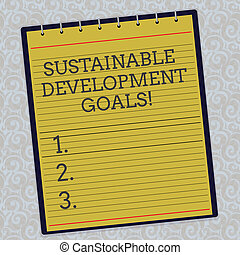 Handwriting text Sustainable Development Goals. Concept ...
