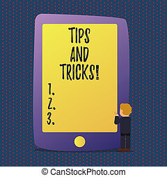Tips blocks mean hints suggestions and advice  Tips blocks