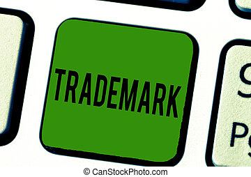 Handwriting text Trademark. Concept meaning Legally registered Copyright Intellectual Property Protection