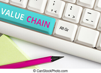 Handwriting text Value Chain. Concept meaning Business ...