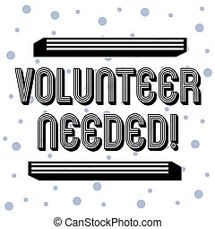 Handwriting text Volunteer Needed. Concept meaning asking demonstrating to work for organization without being paid Seamless Blue Polka Dots Tiny Circles Pattern in Random on White Isolated.