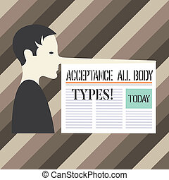 Handwriting text writing Acceptance All Body Types. Concept ...