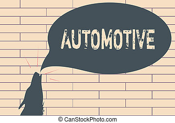 Handwriting text writing Automotive. Concept meaning Selfpropelled Related to motor vehicles engine cars automobiles