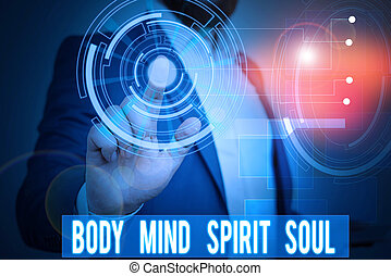 Handwriting text writing Body Mind Spirit Soul. Concept...