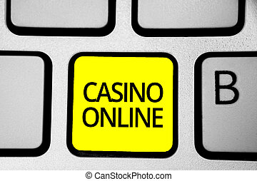 Handwriting text writing Casino Online. Concept meaning...