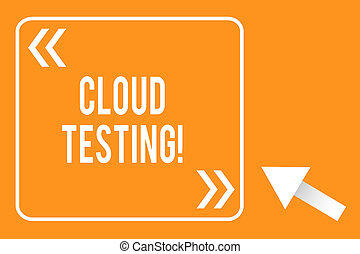 Handwriting text writing Cloud Testing. Concept meaning is ...