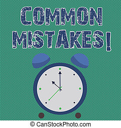 Handwriting text writing Common Mistakes. Concept meaning ...