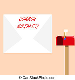 Handwriting text writing Common Mistakes question. Concept ...