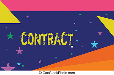Handwriting text writing Contract. Concept meaning written ...