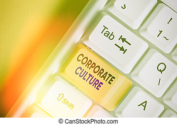 Handwriting text writing Corporate Culture. Concept meaning ...
