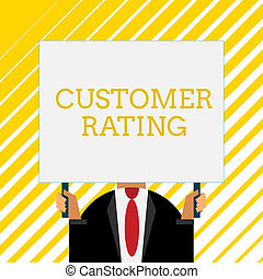 Handwriting text writing Customer Rating. Concept meaning ...