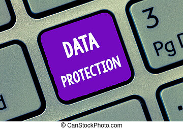 Handwriting text writing Data Protection. Concept meaning Protect IP addresses and personal data from harmful software