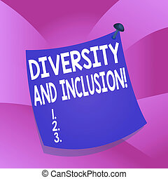 Handwriting text writing Diversity And Inclusion. Concept ...