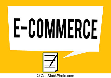Handwriting text writing E Commerce. Concept meaning...