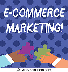 Handwriting text writing E Commerce Marketing. Concept...