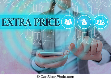 Handwriting text writing Extra Price. Concept meaning extra ...
