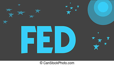 Handwriting text writing Fed. Concept meaning A federal agent and official especially a member of the FBI Reserve army