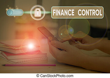 Handwriting text writing Finance Control. Concept meaning ...