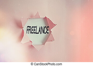 Handwriting text writing Freelance. Concept meaning working ...