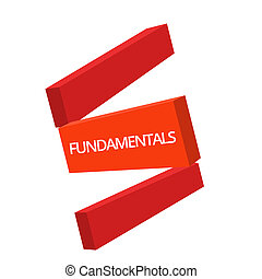 Handwriting text writing Fundamentals. Concept meaning Central primary rules principles on which something is based