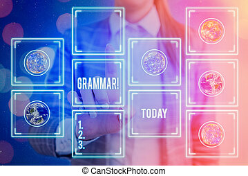 Handwriting text writing Grammar. Conceptual photo whole system structure language syntax and morphology Elements of this image furnished by NASA