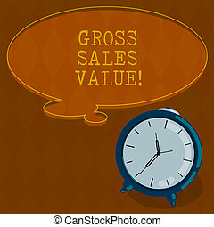 Handwriting text writing Gross Sales Value. Concept meaning...