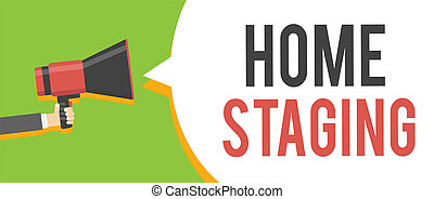 Handwriting text writing Home Staging. Concept meaning Act ...