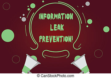 Handwriting text writing Information Leak Prevention....