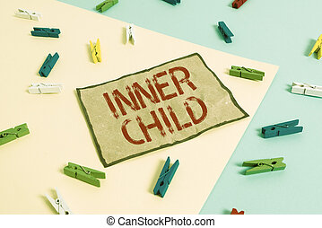 Handwriting text writing Inner Child. Concept meaning the ...