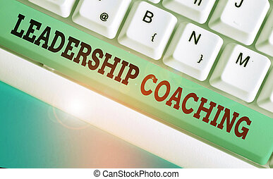 Handwriting text writing Leadership Coaching. Concept ...