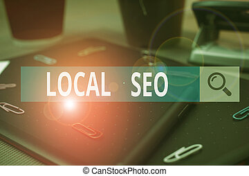 Handwriting text writing Local Seo. Concept meaning This is ...