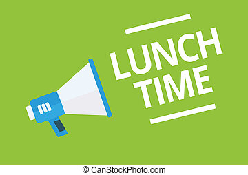 Handwriting text writing Lunch Time. Concept meaning Meal in...