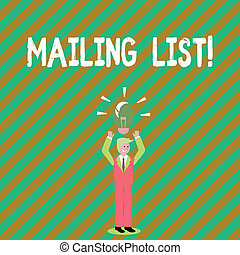 Handwriting text writing Mailing List. Concept meaning Names and addresses of showing you are going to send something.