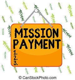 Handwriting text writing Mission Payment. Concept meaning ...