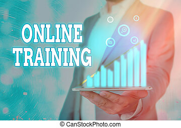 Handwriting text writing Online Training. Concept meaning ...