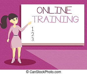 Handwriting text writing Online Training. Concept meaning...