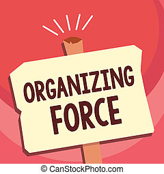 Word writing text organizing force  business concept for