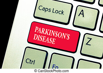 Handwriting text writing Parkinson s is Disease. Concept...