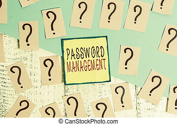 Handwriting text writing Password Management. Concept ...