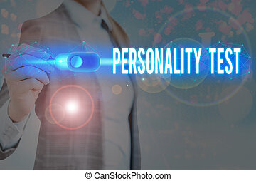 Handwriting text writing Personality Test. Concept meaning A...