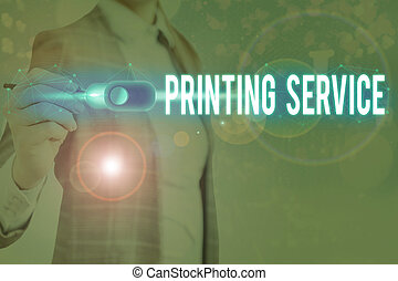 Handwriting text writing Printing Service. Concept meaning ...