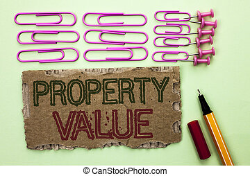 Handwriting text writing Property Value.