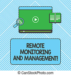 Handwriting text writing Remote Monitoring And Management. ...